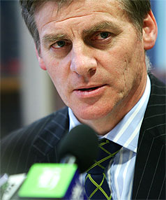 HOUSING UTURN: Finance Minister Bill English.