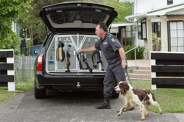SEARCHERS ASSISTED: Police had brought in dogs to search for the missing toddler.
