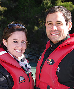 HOT COUPLE: Jason Mesnick, aka The Bachelor, visited Queenstown yesterday with girlfriend Molly Malaney as part of an eight-day tour.