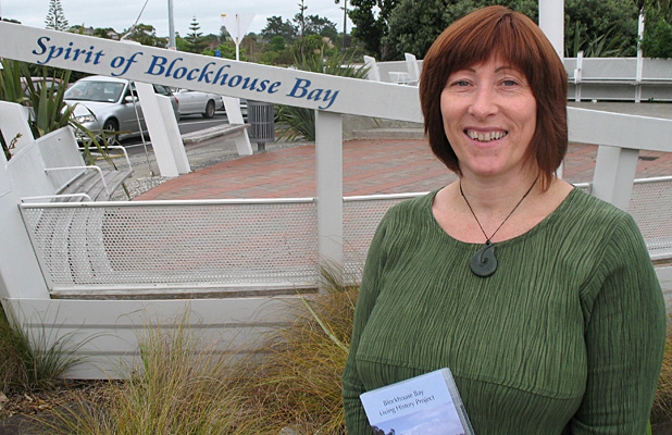 COMMUNITY SPIRIT: Gail Fotheringham has enjoyed putting some of Blockhouse Bay's stories on to the big screen.