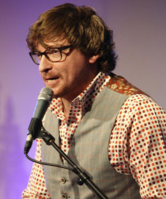 Kiwi comes home: New Zealand comic Rhys Darby warms up another crowd.