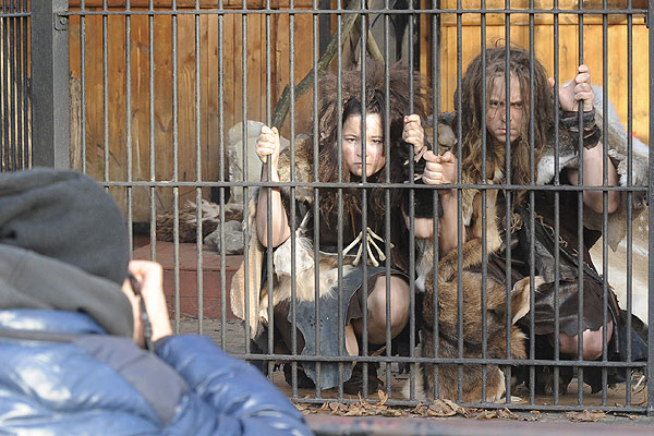 Caged 'cavemen' go on display at Warsaw zoo