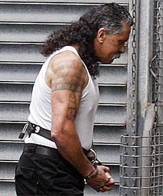 FREE AGAIN: Kevin Francis Henare Moore walked out of the New Plymouth District Court a free man after two victims refused to give evidence.