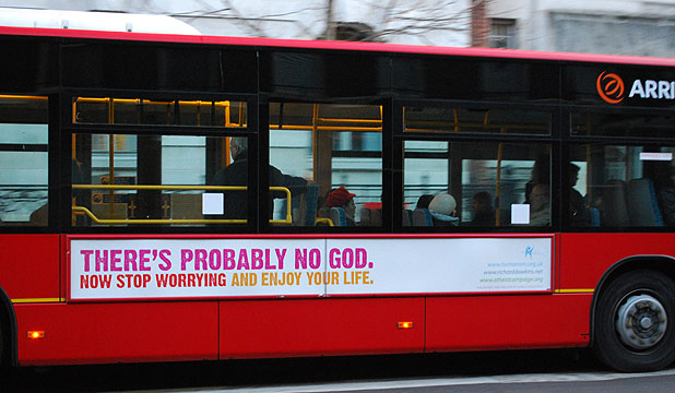 NEXT STOP PURGATORY: The controversial advertisement  has upset  religious groups in Britain.
