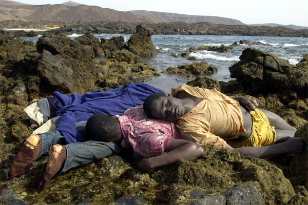 Drowned African immigrants