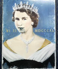 bde754dec ROYAL MOKO: The portrait by artist Barry Ross Smith of the Queen with a  traditional