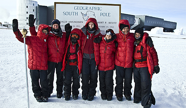 GO-GETTERS  The Commonwealth Ladies Ski Expedition has reached the South  Pole after more b45aea9e3