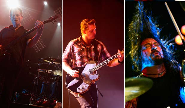 THEM CROOKED VULTURES: left to right: John Paul Jones, Josh Homme and Dave Grohl.