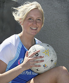TRAINING HARD: Southern Steel rookie Hayley Saunders got a first-hand glimpse of what ANZ Championhship netball will be like, at Steel's first preseason tournament in Christchurch at the weekend.