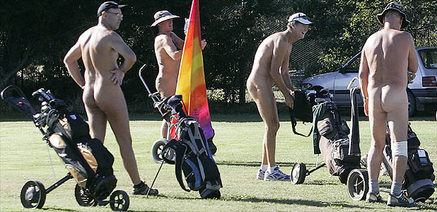 CLEAN SWEEP: Wairau Valley Golf Course may never be the same again as about 25 keen naturists hit the green.