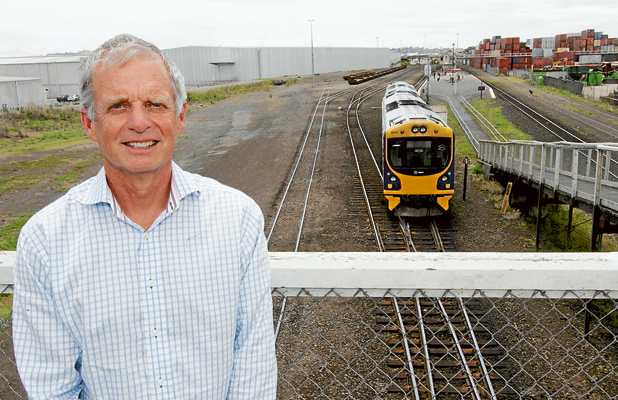 GETTING READY: KiwiRail's Auckland electrification project director Murray Hood says the masts and portals that will first appear over the skyline of Otahuhu will be the first visible signs of the electrification of Auckland's rail network.
