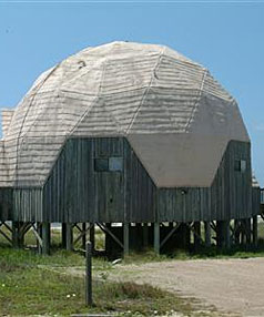 HOLIDAY WITH A TWIST: Dome Ecile, a vacation rental on St. George Island, Florida is seen in a handout photo.
