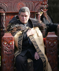 WARNING ISSUED: King Tuheitia Paki, pictured  on the throne  at his  coronation, has given Tainui's parliament an ultimatum.
