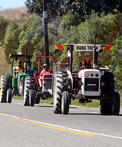 South Island Tractor Trek for Cancer Kids 2010