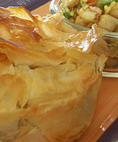 PERFECT PASTRY: The filling for these perfect little pies can be eaten cold as a salad, hot with grilled meats or wrapped in crunchy filo pastry and added to the lunchbox. Serve the pies with a green salad for a main meal.