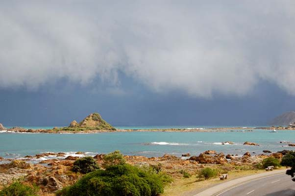 Storm front Island bay