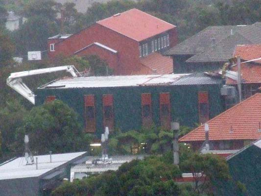 Marsden school roof, Wellington storm