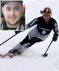 GOLD MEDAL: Adam Hall, a gold medal winner for New Zealand at the 2010 Winter Olympics, skies at Cardrona, Wanaka, in 2009.