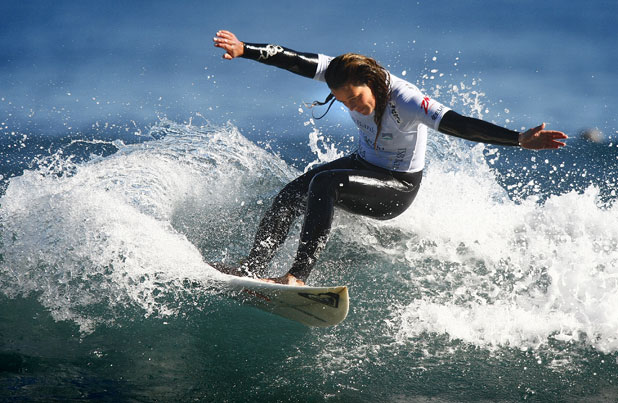 The New Zealand Women's Open finals at the TSB Women's Surf Festival