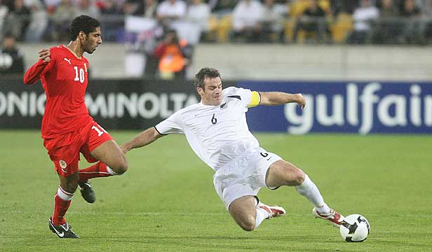 INFLUENTIAL: Ryan Nelsen's team-mates say their captain was the reason the All Whites beat Bahrain in last year's World Cup qualifying game.