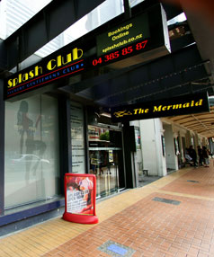 The Courtenay Place strip club where the absent father was found