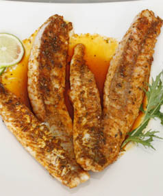 YUMMY: Gurnard with paprika, thyme, garlic and lemon. One of many ways to prepare this delicious fish.
