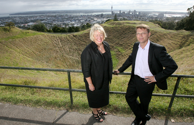POLITICAL PAIRING: Former Auckland city mayor Christine Fletcher and current councillor Paul Goldsmith are the Citizens & Ratepayers supercity election candidates for the Albert-Eden-Roskill ward.