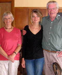 Family pride: Margaret and Gordon Chisholm, of Lowburn, near Cromwell, with granddaughter Jessica Watson.