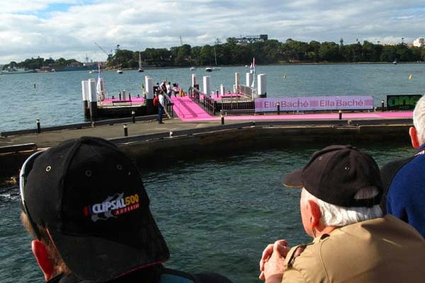 People waited around Sydney harbour's waterfront to welcome home intrepid teen sailor Jessica Watson.