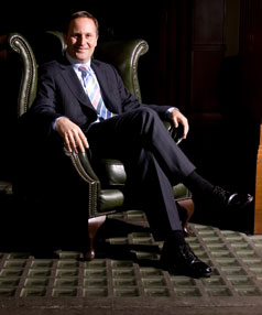 FACING THE MUSIC: The main in the hot seat, John Key.