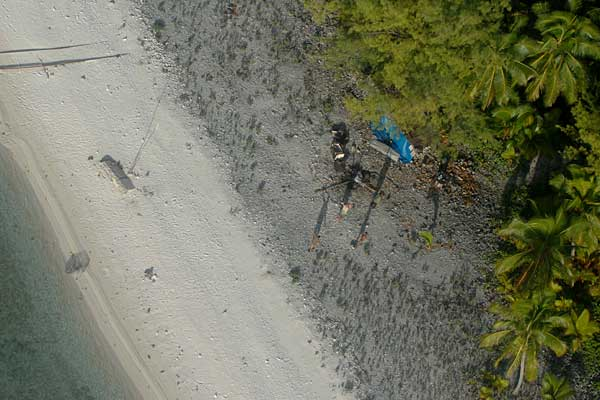 Four men marooned on Manuae Island