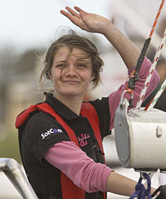 """SOLO MISSION: Health psychologist Megan Varlow credits Jessica Watson's ability to manage 210 days at sea by herself - without losing her mind - to """"very strong mental toughness''"""