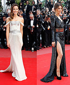 LOOKING GOOD: Kate Beckinsale has been wowing the crowds with her exquisite outfits, perfect make-up and dazzling hair but admits it hasn't always been like that.