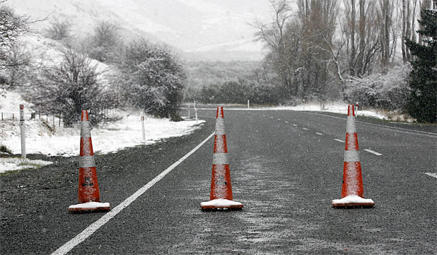 SNOW CONES: Porters Pass, on State Highway 73 between Springfield and Arthur's Pass, has been closed by snow.
