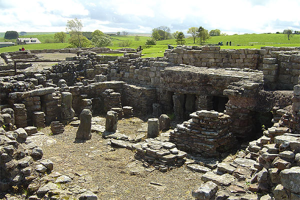 HIDDEN HISTORY: One of the Roman Military bathhouses at Vindolanda near Hadrian's Wall.
