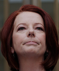 COME ON OVER: Prime Minister Gillard was likely to visit New Zealand after the Australian election due later in the year - if her party remained in power.