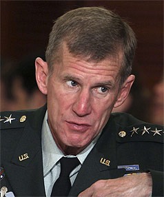 GENERAL STANLEY McCHRYSTAL: Commander of US and NATO forces in Afghanistan.