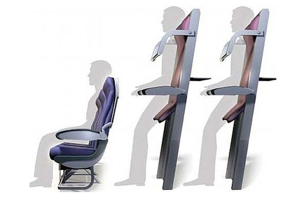 Plan for 'vertical seats' on airlines