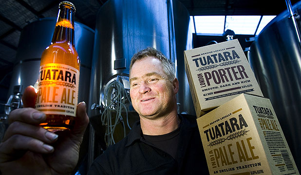 THAT'S A BEER: Tuatara's master brewer, Carl Vasta developed a passion for brewing after visiting Britain in the 1980s.