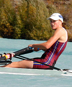 Roncalli College rower Louise Livesey