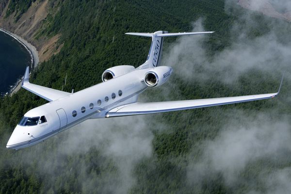 A G550 private jet