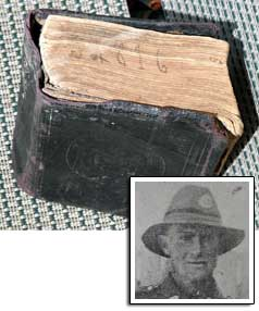 The bible belonging to Private Richard Cook of Colac Bay