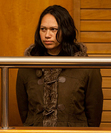 HISTORY OF VICTIMHOOD: Jacqueline Wihongi is sentenced for murder in the Napier High Court.