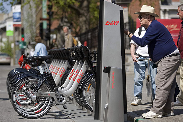 CYCLES: The Bixi city bike system makes wheeling around Montreal a breeze.