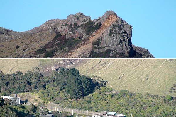 Earthquake in Christchurch - castle rock