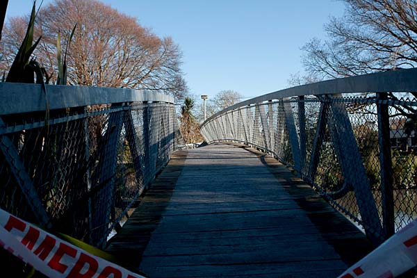 Christchurch earthquake - bridge
