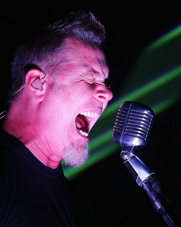 KILL SWITCH: Metallica's James Hetfield unleashes on the CBS Arena in Christchurch.