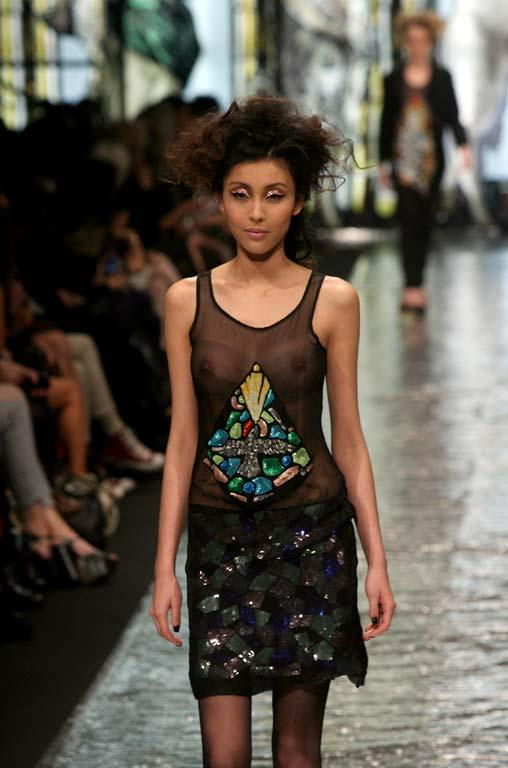 Fashion from the Trelise Cooper show at NZ Fashion Week.