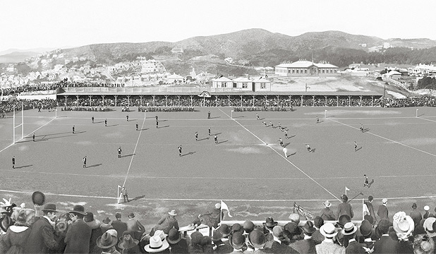 REWORKED: Athletic Park in 1904 between the All Blacks and British abnd Irish Lions by Chas W Martin.