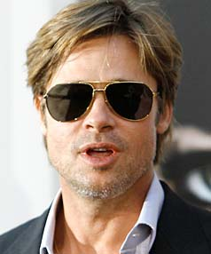 SWAGGER ON: Brad Pitt got completely into character as Elvis Presley for his part in the movie Megamind.